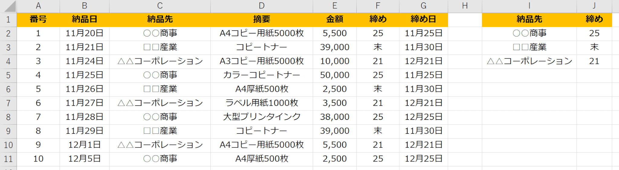 Excel(エクセル)請求書締め日を簡単入力|EOMONTH関数